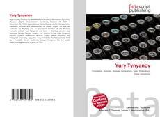 Capa do livro de Yury Tynyanov