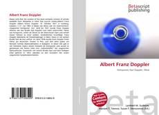 Albert Franz Doppler kitap kapağı