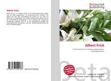 Buchcover von Albert Frick
