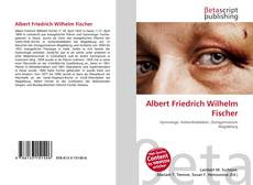 Buchcover von Albert Friedrich Wilhelm Fischer