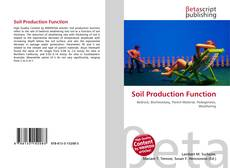 Bookcover of Soil Production Function