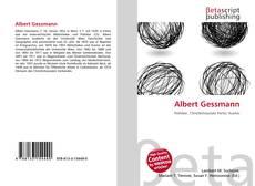 Portada del libro de Albert Gessmann