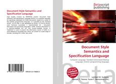 Bookcover of Document Style Semantics and Specification Language