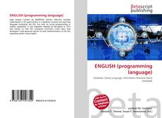 Capa do livro de ENGLISH (programming language)