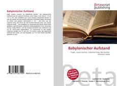 Bookcover of Babylonischer Aufstand