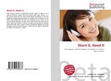 Buchcover von Want It, Need It