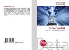 Bookcover of Instruction List