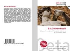 Buchcover von Baccio Bandinelli