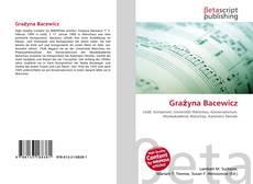 Grażyna Bacewicz kitap kapağı