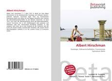 Buchcover von Albert Hirschman