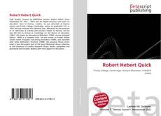 Buchcover von Robert Hebert Quick