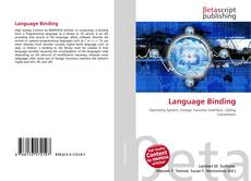 Bookcover of Language Binding