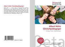 Buchcover von Albert Höfer (Gestaltpädagoge)