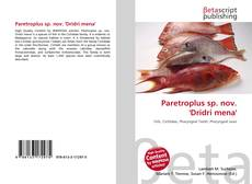 Bookcover of Paretroplus sp. nov. 'Dridri mena'