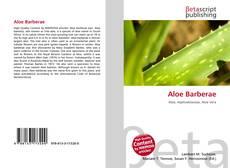 Aloe Barberae kitap kapağı