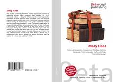 Bookcover of Mary Haas