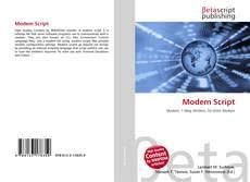 Buchcover von Modem Script