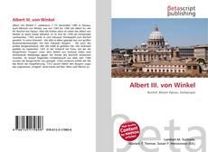 Buchcover von Albert III. von Winkel