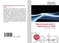 Bookcover of Rajyasevapraveena G. Parameswaran Pillai