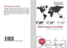 Bookcover of Albert Joseph von Hoditz