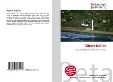 Buchcover von Albert Kallee