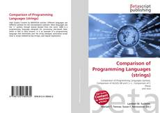 Bookcover of Comparison of Programming Languages (strings)