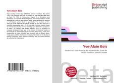 Couverture de Yve-Alain Bois