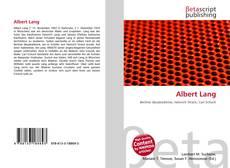 Bookcover of Albert Lang