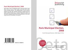 Paris Municipal Election, 2008 kitap kapağı