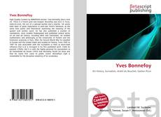 Bookcover of Yves Bonnefoy