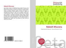 Bookcover of Rakesh Khurana