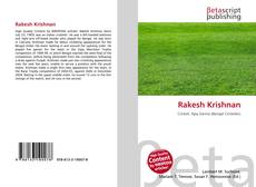 Bookcover of Rakesh Krishnan