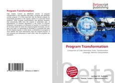 Bookcover of Program Transformation