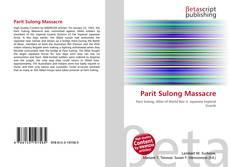 Capa do livro de Parit Sulong Massacre