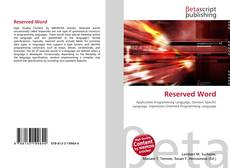 Bookcover of Reserved Word