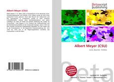 Capa do livro de Albert Meyer (CSU)