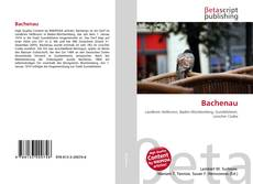 Bookcover of Bachenau