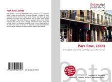 Bookcover of Park Row, Leeds