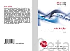 Capa do livro de Yves Rodier