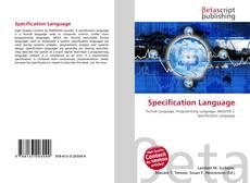 Capa do livro de Specification Language