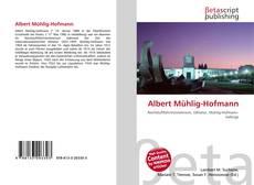Borítókép a  Albert Mühlig-Hofmann - hoz