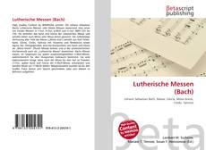 Portada del libro de Lutherische Messen (Bach)