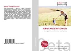 Buchcover von Albert Otto Hirschman
