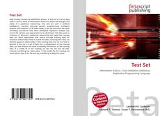 Bookcover of Test Set