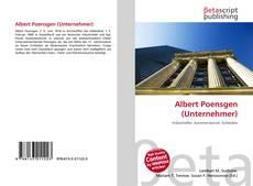 Buchcover von Albert Poensgen (Unternehmer)