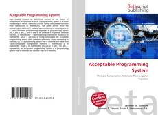 Bookcover of Acceptable Programming System