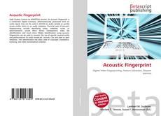 Couverture de Acoustic Fingerprint