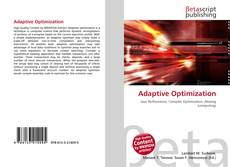 Bookcover of Adaptive Optimization