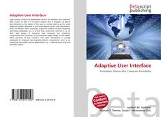 Bookcover of Adaptive User Interface