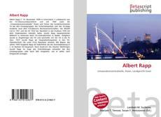 Capa do livro de Albert Rapp